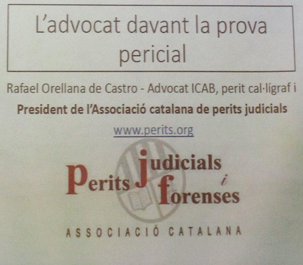 L'Associació Catalana de Perits Judicials participa al Congrés de l'Advocacia de Barcelona 2017 organitzat per l'ICAB els dies 22 i 23 de juny.